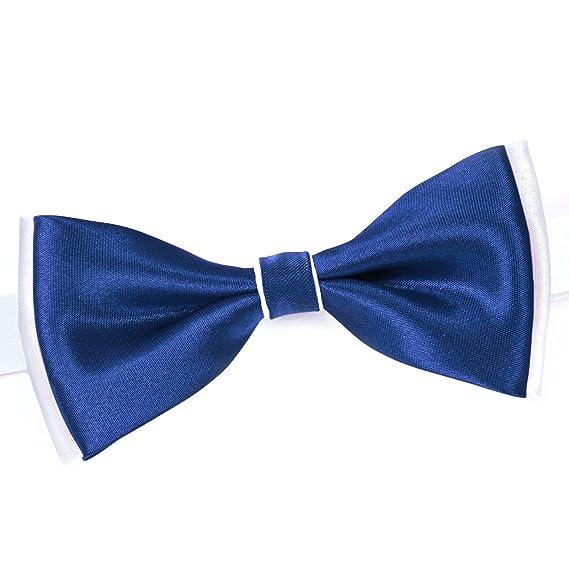 4eff2c0d23a21 Dandytouch Noeud papillon BeCool Bleu gitane sur Blanc - Fabriqué en europe