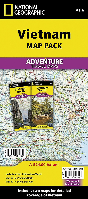 Vietnam map Pack Bundle National Geographic Adventure Map: Amazon.de ...
