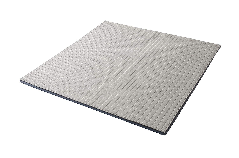 セルタン ラグマット 和楽のZONIA Mサイズ アッシュグレー カバーが洗えるタイプ 日本製 A826a-625GRY B07KZ3KPK5 01デニム調アッシュグレー