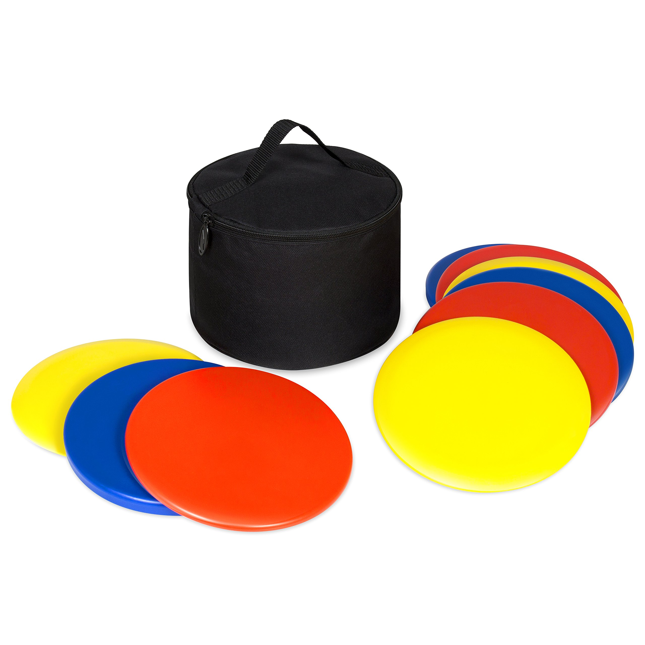 Best Choice Products 9-Piece Portable Lawn Games Disc Golf Set w/Carrying Bag - Multicolor by Best Choice Products