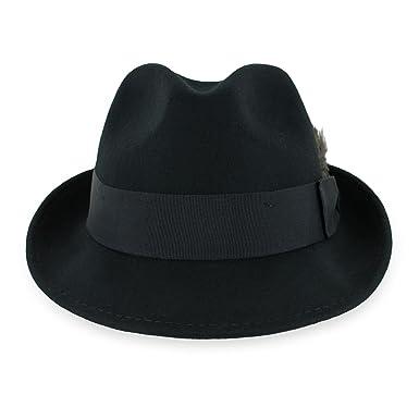 0172823498ec3 Belfry Trilby Men Women Snap Brim Vintage Style Dress Fedora Hat 100% Pure  Wool