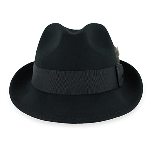 Belfry Trilby Men Women Snap Brim Vintage Style Dress Fedora Hat 100% Pure  Wool 2218f4cf07f4