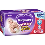 BABYLOVE Nappy Pants Wriggler Nappy Pants 7-11kg (38 pack x 2), Wriggler, 4 count