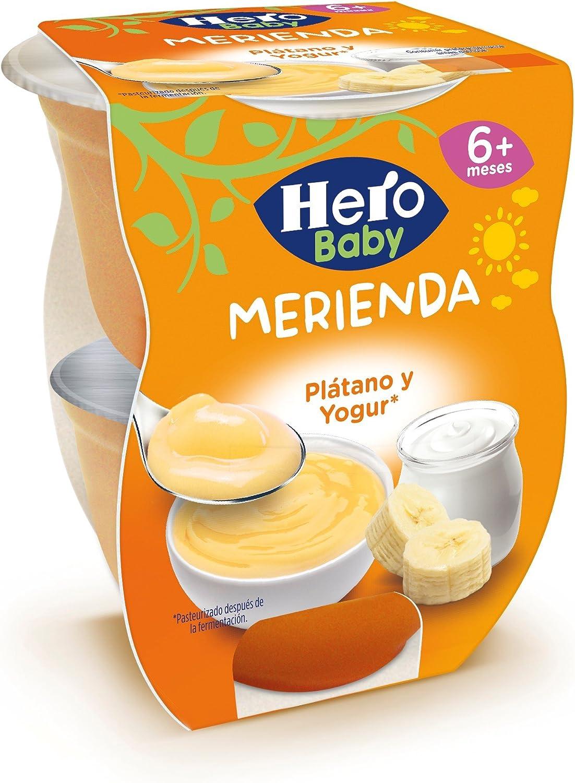 Hero Baby Merienda Puré de Plátano con Yogur para Bebés a partir de 6 meses Pack de 2 x 130 g: Amazon.es: Alimentación y bebidas