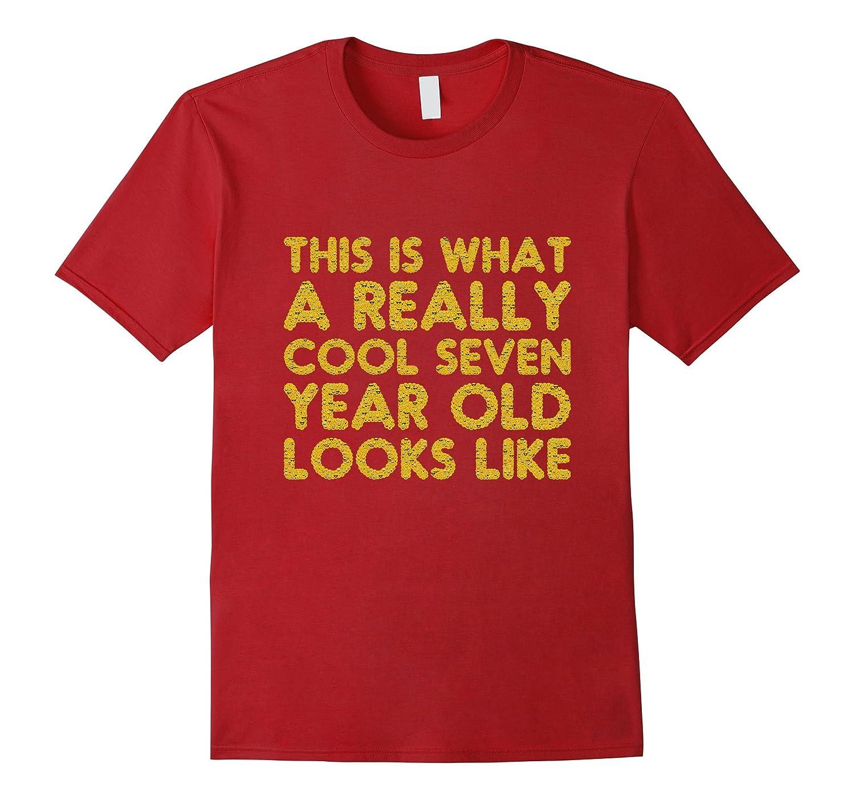 7th Birthday Shirt Gift Cool Age 7 Year Old Boy Girl Tshirt RT