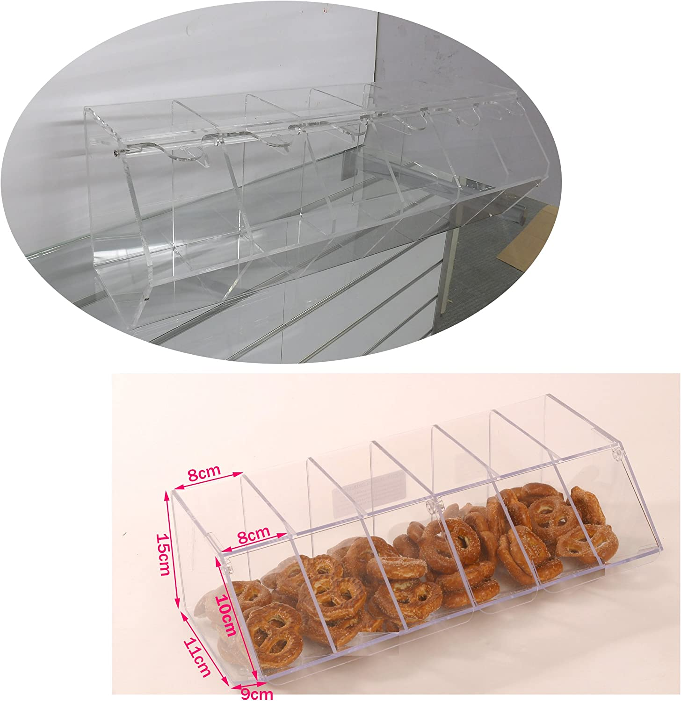 Nueva Pick N Mix Sweet acr/ílico dispensador pantalla apilables Bin Holder Small transparente