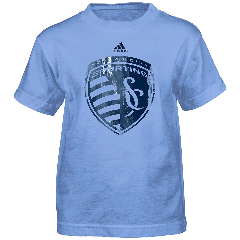 Kids Large 7 Master Blue MLS by Outerstuff Boys War Paint Logo Short Sleeve Tee