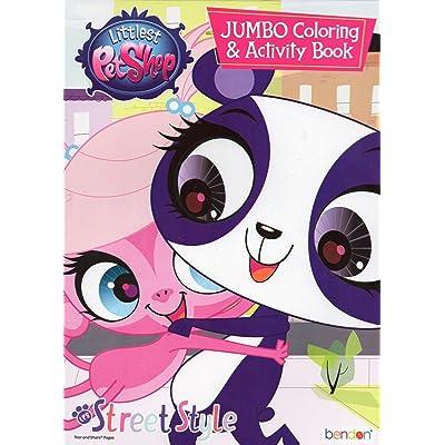 Hasbro Littlest Pet Shop Jumbo Coloring & Activity Book - Street Style: Toys & Games