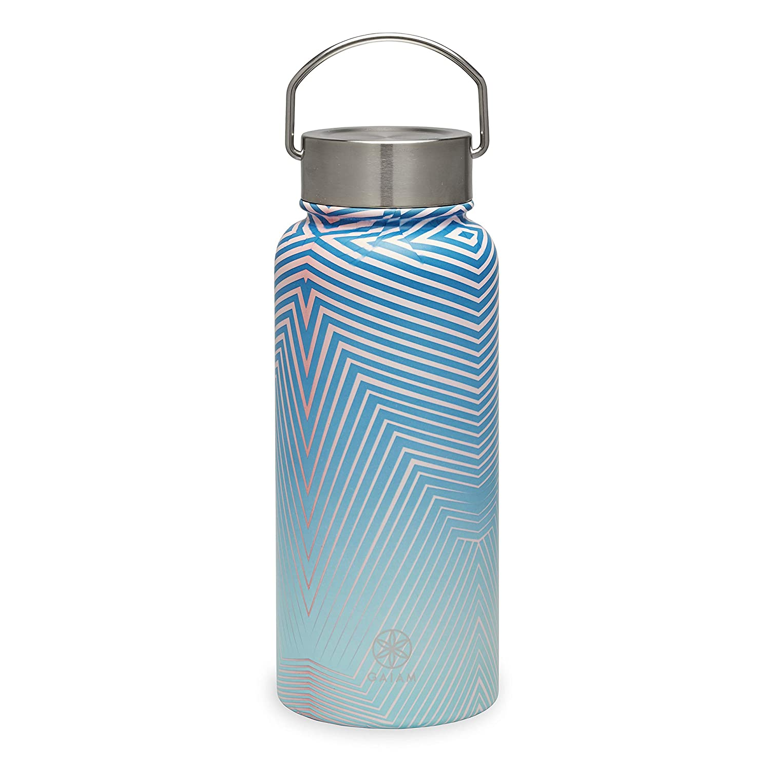 Gaiam Water Bottle Stainless Steel Wide Mouth Taffy 32oz