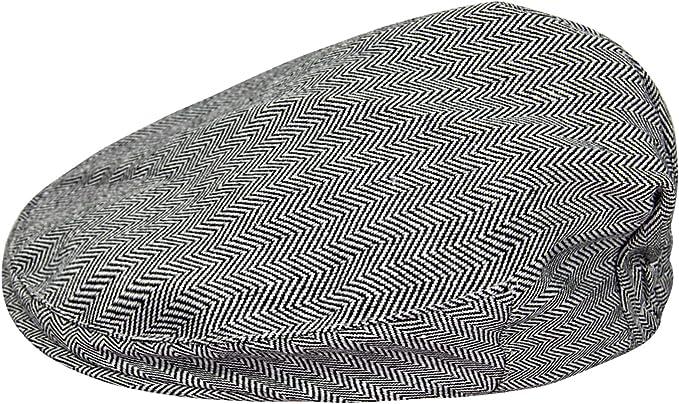 mintgreen Baby Fischgr/ätenmuster Flache Kappe Vintage Fahrerhut mit Futter,Dick und Weich,Alter 0-8 Jahre