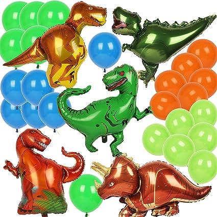 Amazon.com: Globos de dinosaurio, Triceratops T-rex Raptor ...