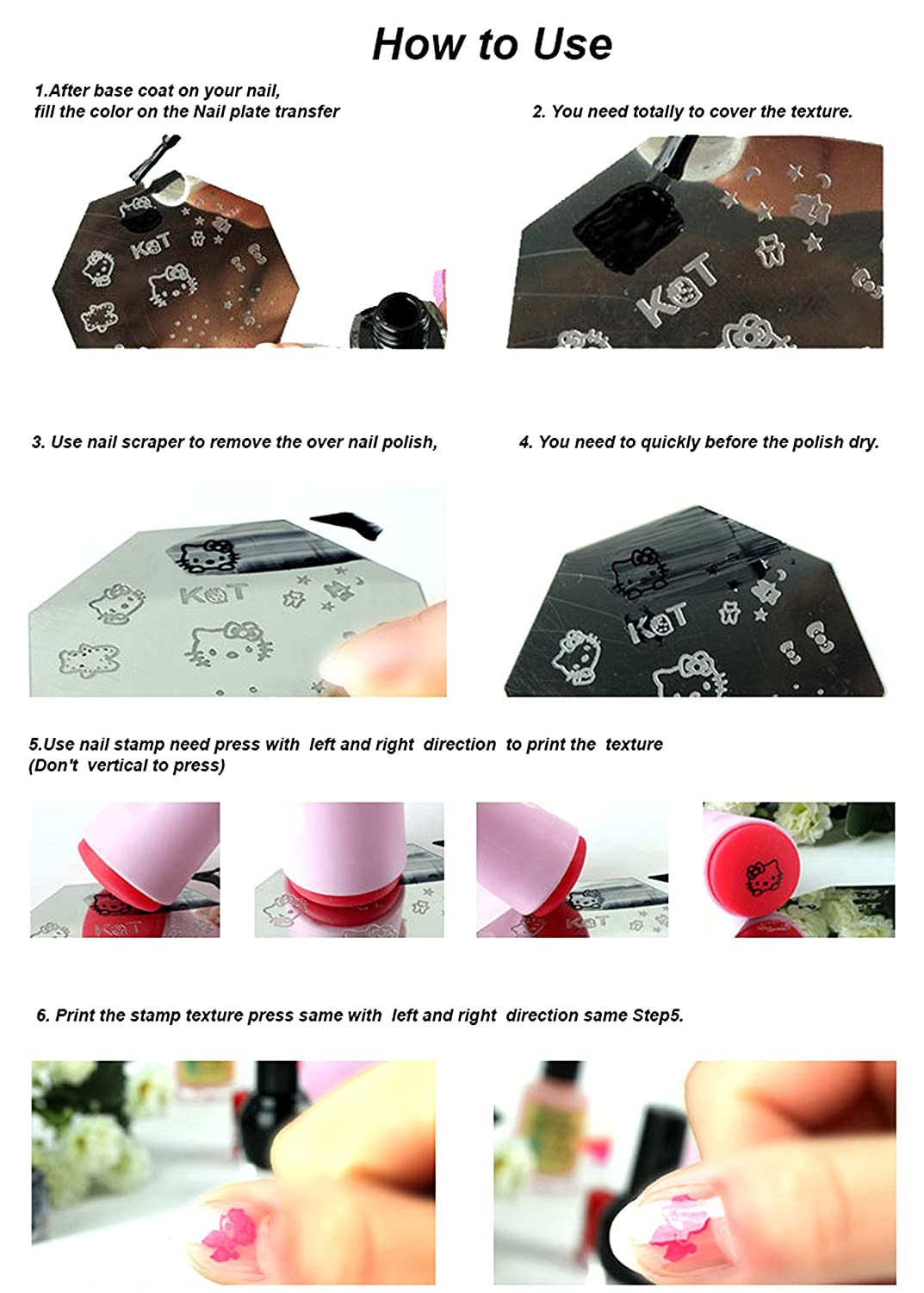 Nail Art DIY Stamping Image Metal Plate Stamp & Scrape Tool Words - AP76 - FashionLife