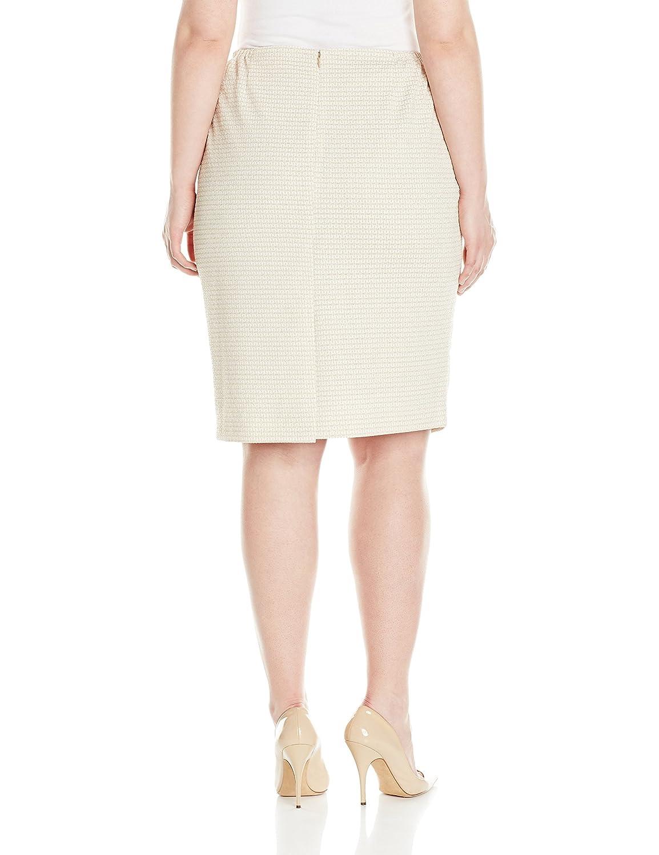 Kasper Womens Plus Size Jacquard Slim Skirt