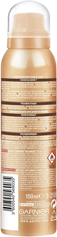 Garnier ambre solaire Natural bronzeur niebla bronceadora (cara & cuerpo 150 ml: Amazon.es: Belleza