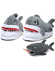 Shark Slipper-Funny Fluffy Indoor Shark House Slippers Or Shoes for Adult Women and Men, Kids. Slides Furry Style Slipper to Warm Feet Shark Squeeze Stress Relief Toy White