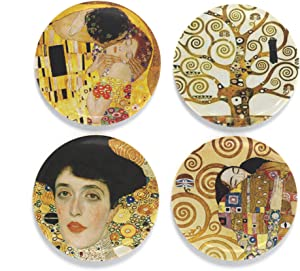 "Buttonsmith Klimt Kiss Magnet Set - Set of 4 1.25"" Magnets - Made in the USA"