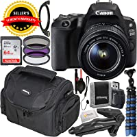 Canon EOS 200D (Rebel SL2) DSLR Camera & EF-S 18-55mm f/3.5-5.6 III Lens Kit with Accessory Bundle
