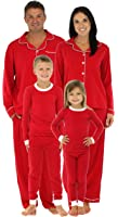 SleepytimePjs Family Matching Holiday Red Stretch Pajamas PJS Sets For Family