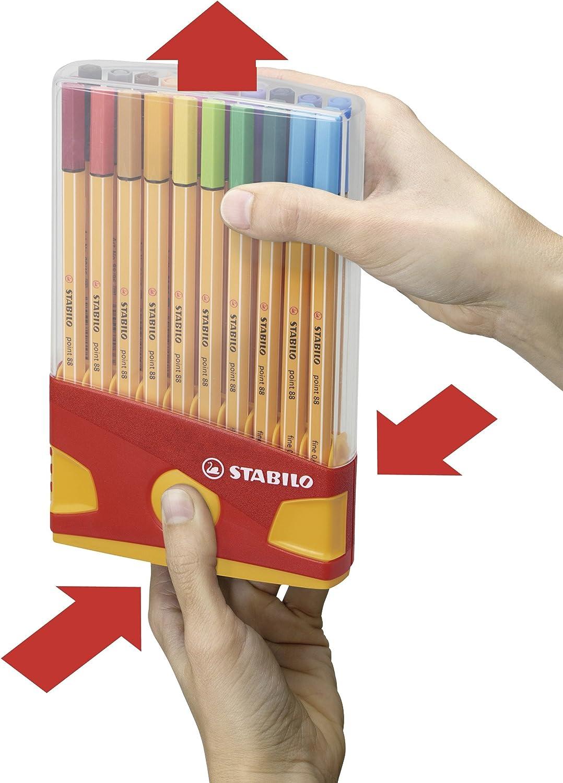 Rotulador punta fina STABILO point 88 - Estuche premium Colorparade con 20 colores: Amazon.es: Oficina y papelería