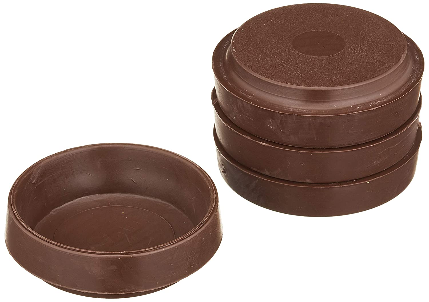 - Large Brown Pack of 4 2.3//4 inch Outer Dia.70mm Merriway/® BH01561 Non-Slip Rubber Castor Cups for Wood Hard Floors