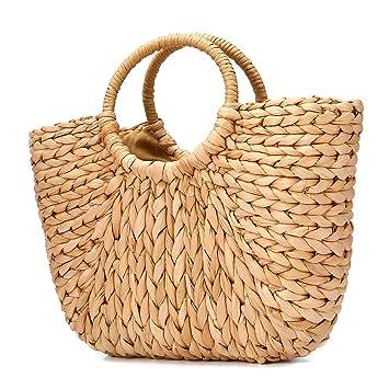 bd0c89e1a Bolsa de playa de verano, JOSEKO Bolso de paja para mujer Bolsa de hombro de  verano para viajes en la playa y uso diario: Amazon.es: Equipaje