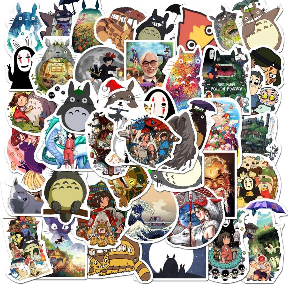 Lovely Totoro Miyazaki Hayao Stickers for Personalize Water Bottle Car Helmet Skateboard Luggage Bike Bumper Notebook Laptop Waterproof Graffiti Decals, Best Gift for Kids (Miyazaki Hayao)