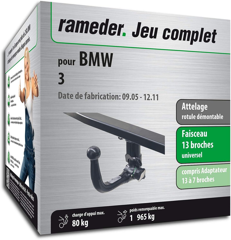 Faisceau 13 Broches 159805-05389-1-FR Rameder Attelage rotule d/émontable pour BMW 3
