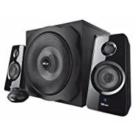 Trust Tytan 2.1 PC Bluetooth Speaker System with Subwoofer for Computer, Laptop, Tablet and Smartphone, 120 W, UK Plug - Black