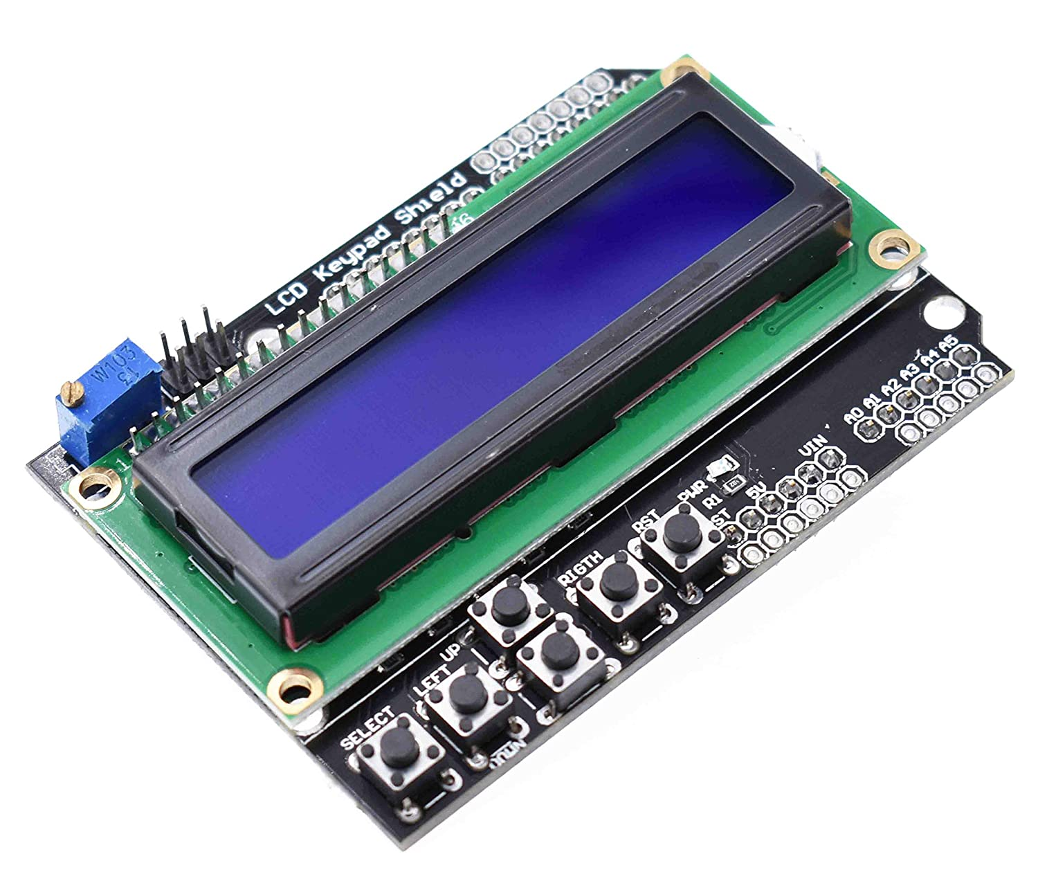 Shield Blue Backlight For Arduino Expansion Board 1602 LCD Board Keypad