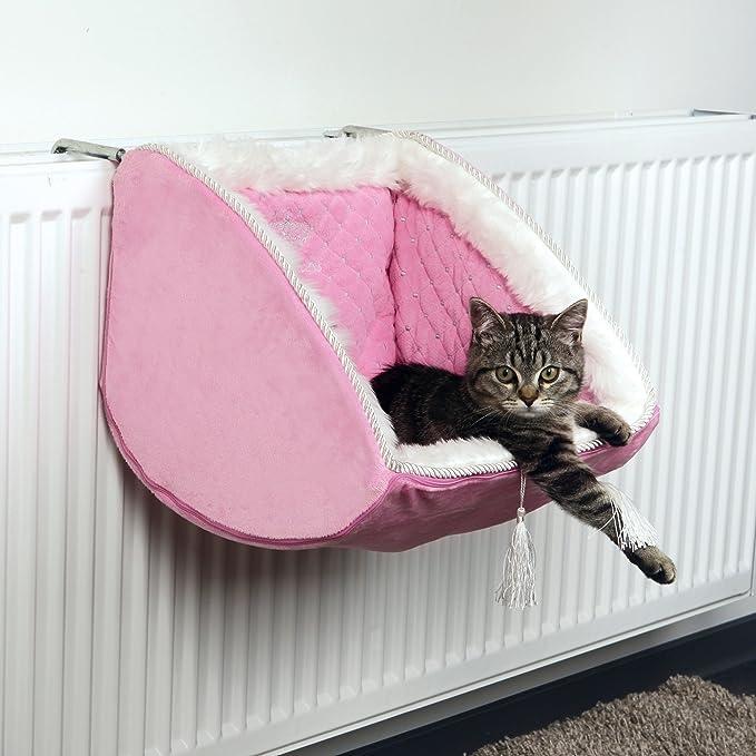 Trixie - Cama para radiador modelo Cat Princess para gatos (38 × 30 × 38