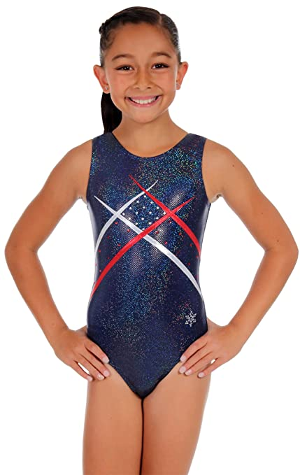 021ee9a107ac Amazon.com   Snowflake Designs Unity Gymnastics Tank Leotard - Navy ...
