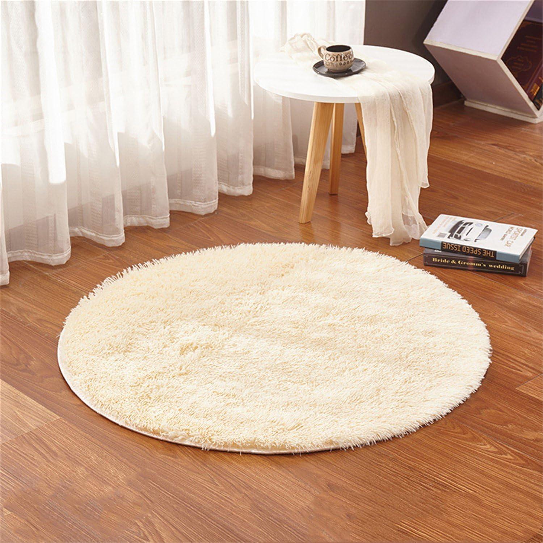 4-Feet Tapis Rond Super Doux Salon Chambre /à Coucher Maison Tapis Shag linyingdian 120 cm Rose