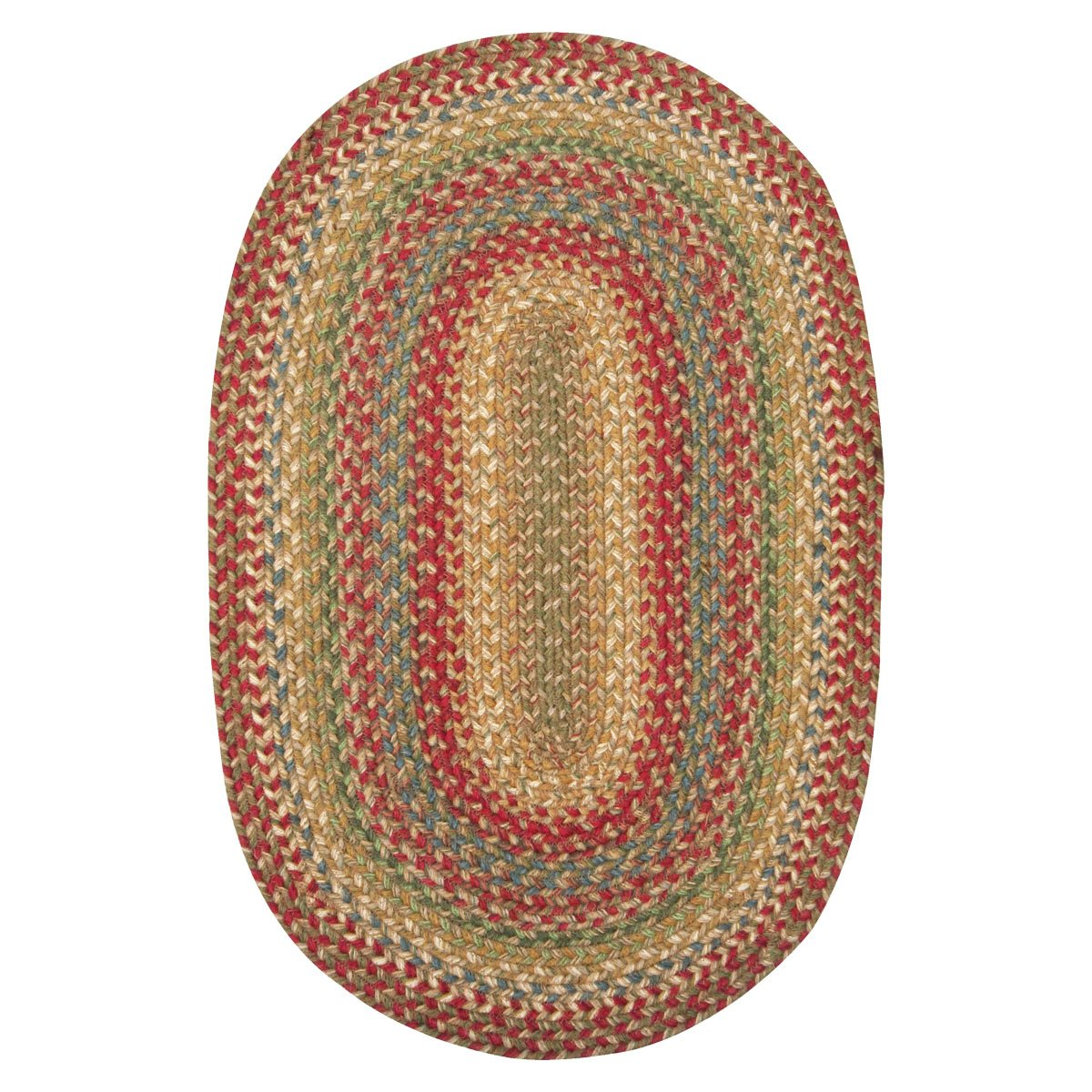 Homespice Oval Jute Braided Rugs, 4-Feet by 6-Feet, Azalea