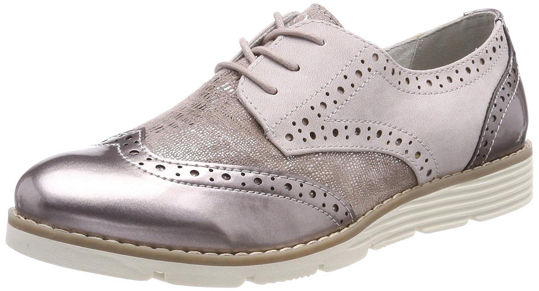 s.Oliver 23623, Zapatos de Cordones Oxford para Mujer 41 EU|Rosa (Rose Comb)