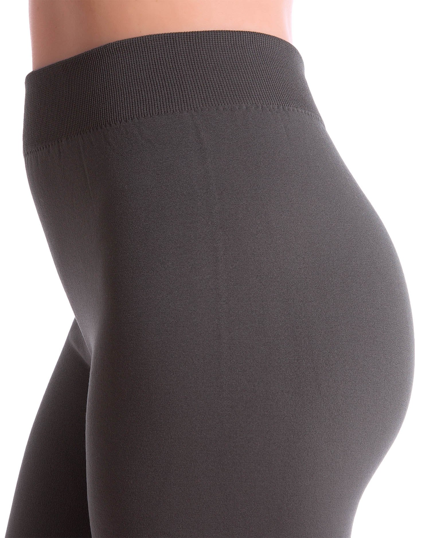 3-Pack Fleece Lined Thick Brushed Leggings by Homma (S/M/L, BLACK/NAVY/GREY) by Homma (Image #4)
