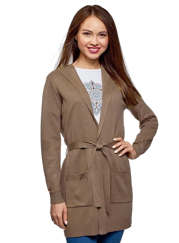 oodji Ultra Donna Cardigan con Cintura e Tasche Applicate RIFICZECH s.r.o. 63212601