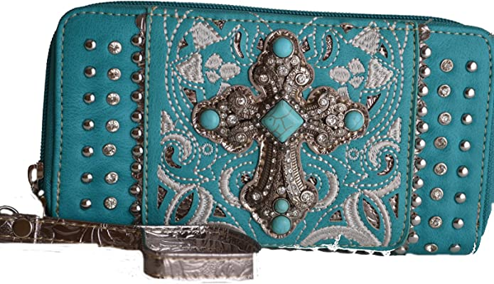 Gift for Her Floral Turquoise Western Southwestern Rustic Made to Order Ladies Wallet Desert Rose Long Wallet Cowgirl