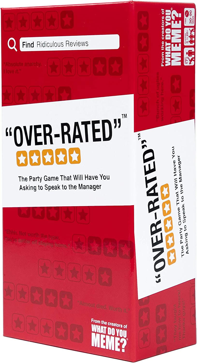 WHAT DO YOU MEME? Over-Rated Adult Party Game