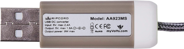 USB to 5V DC Power Cable Compatible with The Panasonic K-XTGa661em K-XTGa661hkm Handset Charger Unit K-XTGa661hkb myVolts Ripcord