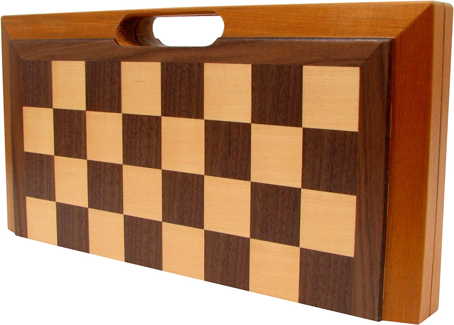Wooden chess Backgammon Checkers 3 In 1 Wooden Pieces Kids Adults Handmade 29x29
