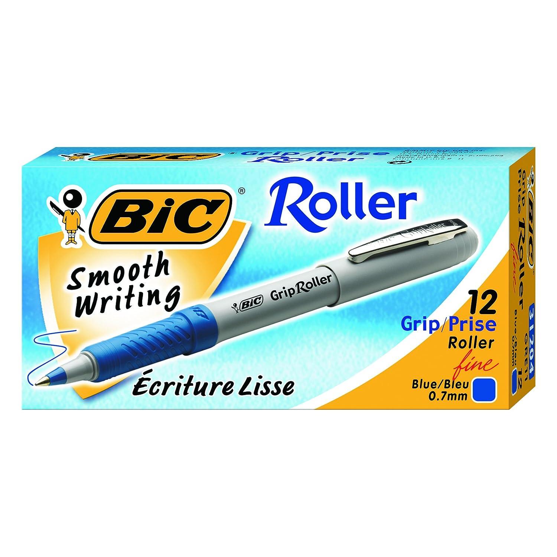Fine Dozen Blue Ink Sold as 1 Dozen Grip Roller Ball Stick Pen