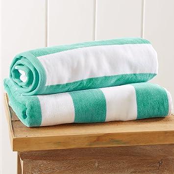 100% algodón Cabana diseño de rayas toalla de playa ((30 x 60). by Gran bahía casa marca.: Amazon.es: Hogar