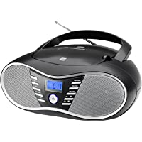 Dual P 60 BT Portable Boombox (UKW-Radio, CD-Player, Bluetooth für Audiostreaming, USB-Anschluss) Schwarz