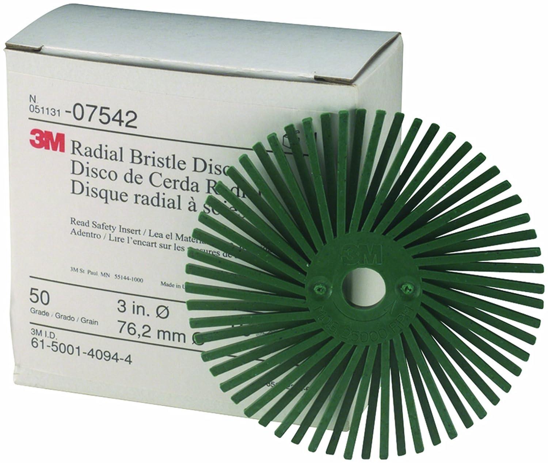 Scotch-Brite 9//16 Diameter 30000 rpm TM Polish 1 Grit Light Green Radial Bristle Disc Pack of 48