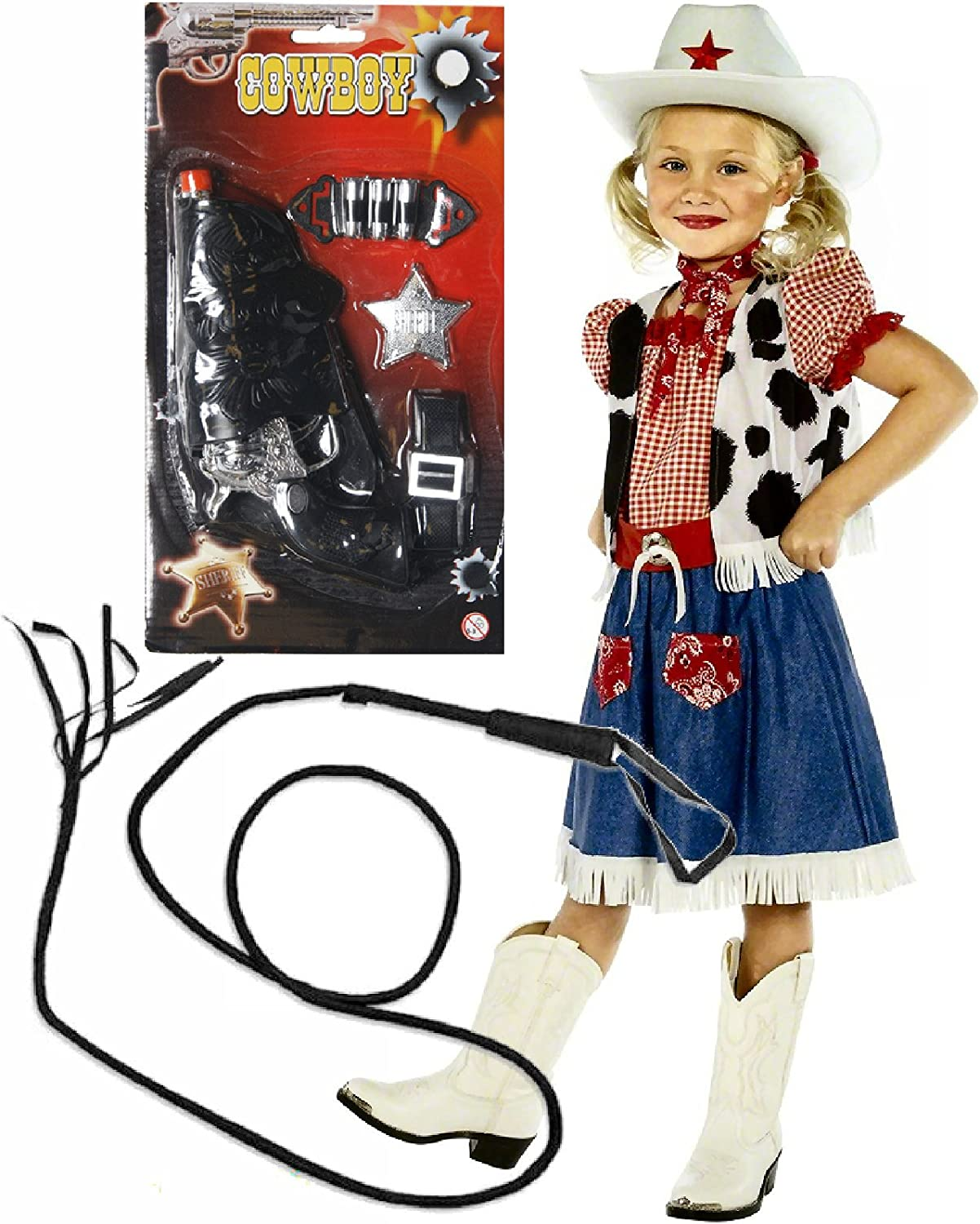 Cowboy Cowgirl Childrens Kids Boys /& Girls Fancy Dress Costume Party 2-12 Years