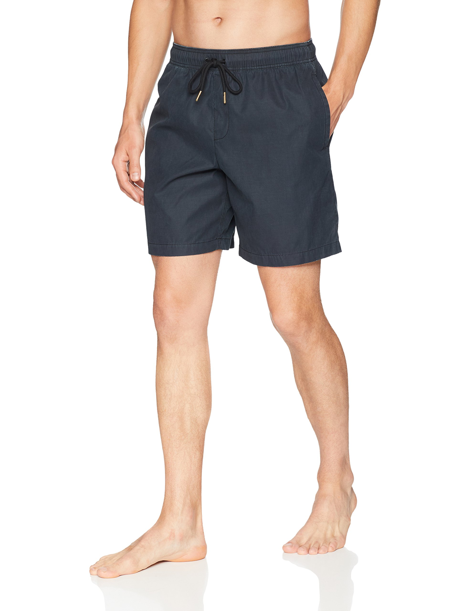 Goodthreads Men's 7'' Inseam Swim Trunk, Washed Black, X-Large