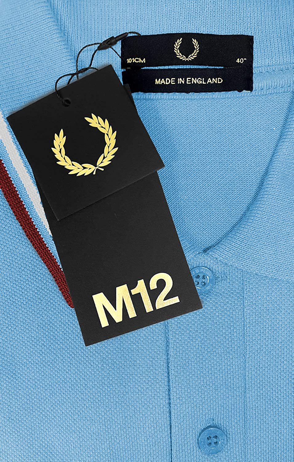 Style M12 Fred Perry Made in England Twin Tipped Polo Shirt