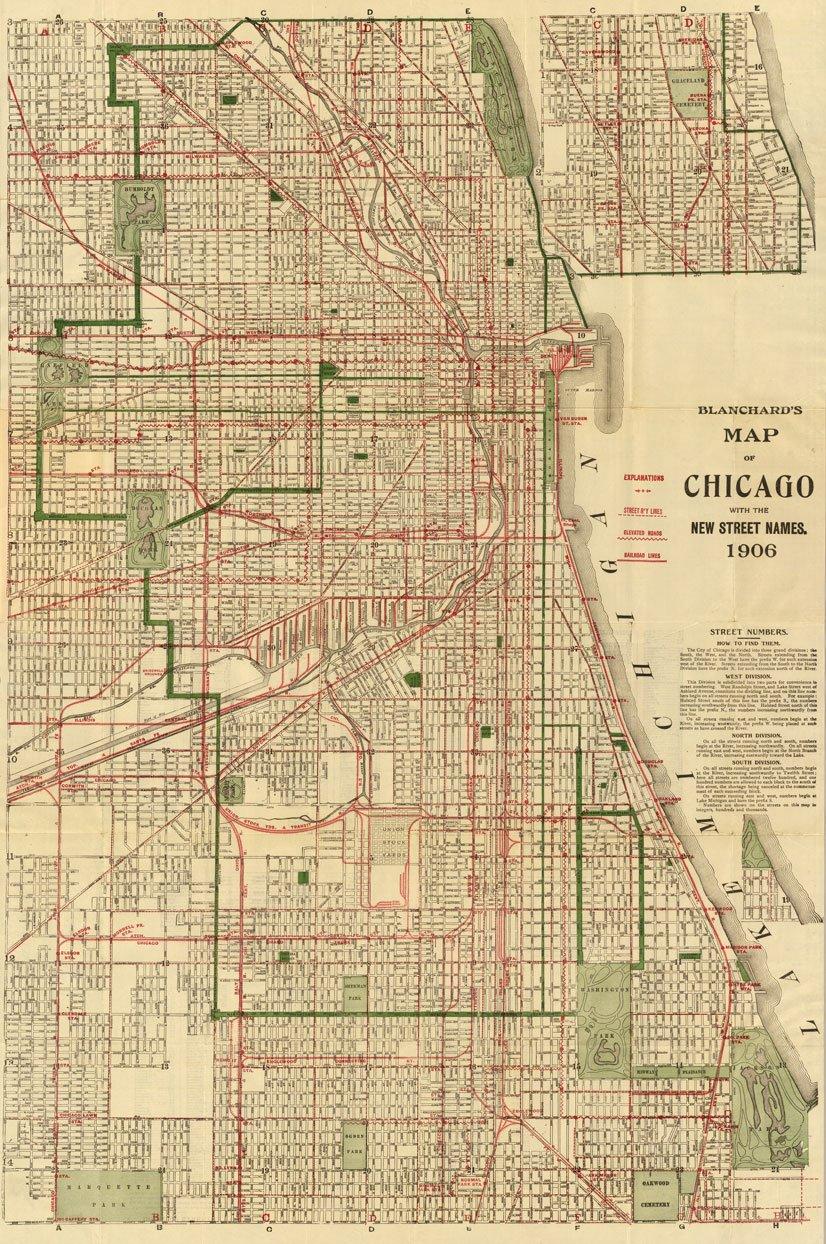 Amazoncom  Blanchards Street Old Vintage Map Chicago New - Chicago map amazon