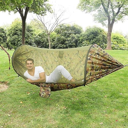 Wyujie Hamaca de Montaje del árbol de 200Kg de Peso Ligero Hamaca balcón Hamaca Hamaca Hamaca jardín suspensión Hamaca Camping al Aire Libre,Camuflaje: Amazon.es: Hogar