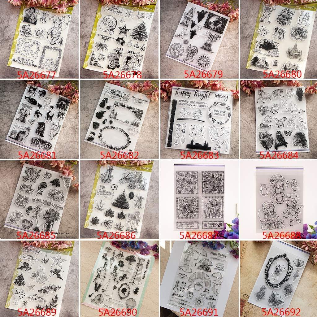 Ranuw Transparent Stempel DIY Handwerk Silikon Clear Stamps F/ür Album Foto Sammelalbum Pr/äge Scrapbooking Katze